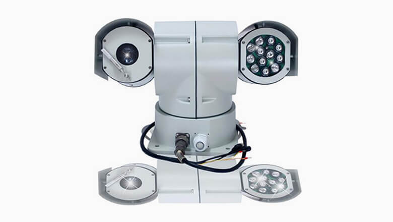 adjustable PTZ Vehicle Camera cancopy for emergency command systems
