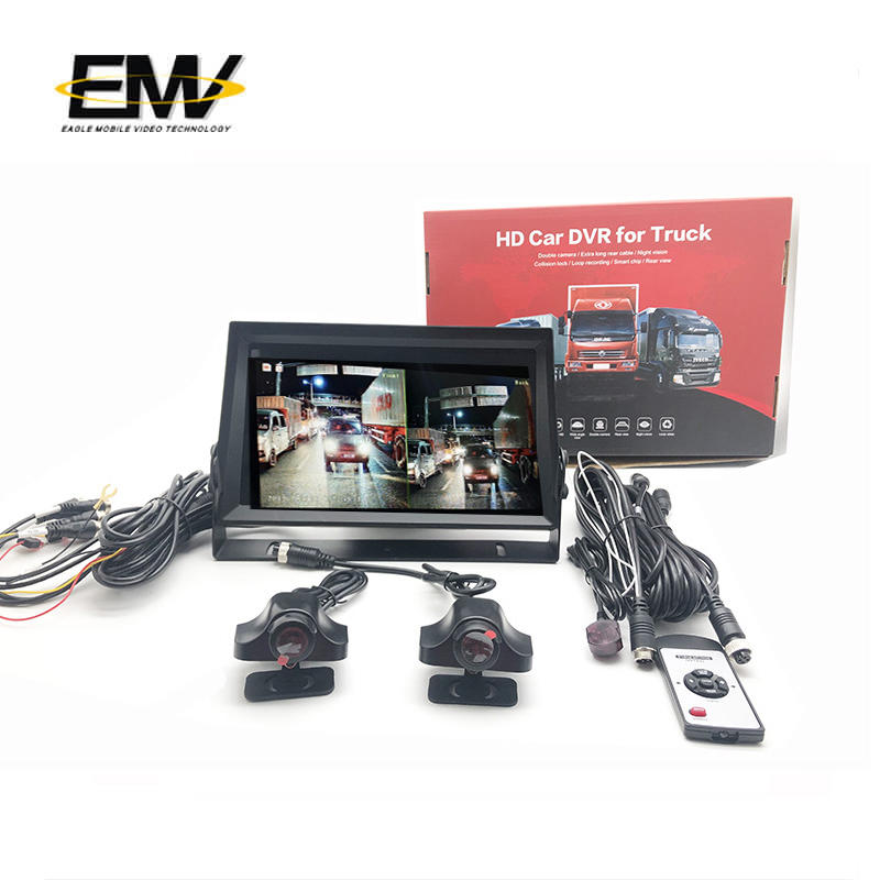 11 inch 960P Around View Vehicle 4Pin Cable Rearview Display Backup Camera Monitor System  E-MR03