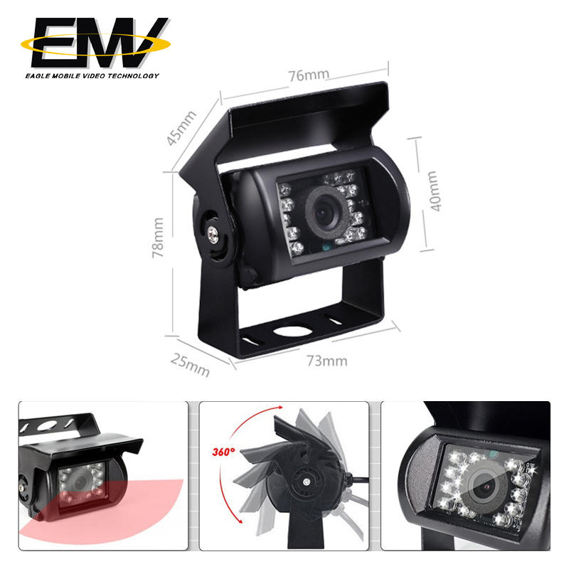 Vehicle Reverse view camera night vision infared bus camera EMV-031